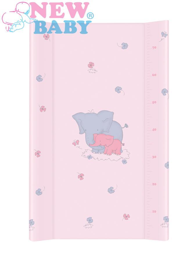 Přebalovací nástavec New Baby 80x50 cm Sloník pink Měkká přebalovací podložka s profilovanými okraji