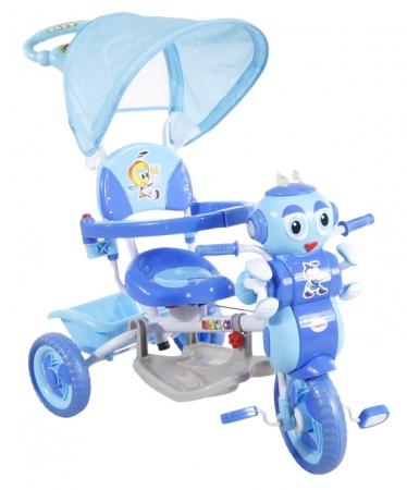 Tříkolka ARTI s vodící tyčí MRAVENEC 3 modrá Dětská tříkolka s vodící tyčí a stříškou