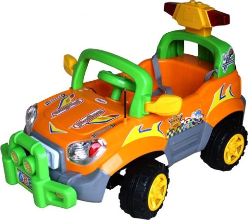 Elektrické auto ARTI POLICE Orange Auto pro 1 dítě, na vysílačku