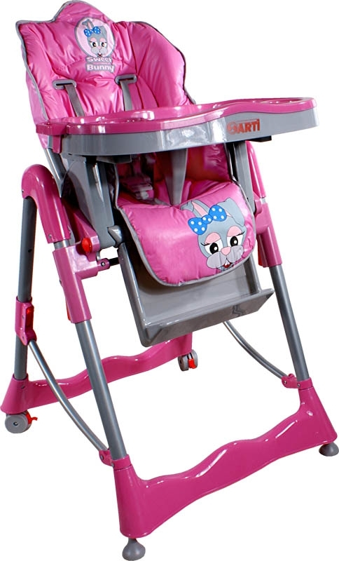 Jídelní židlička ARTI Flower Puppy pink Skládací jídelní židlička Arti