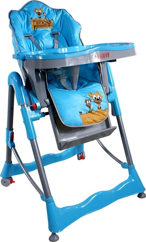 Jídelní židlička ARTI Flower Puppy blue Skládací jídelní židlička Arti