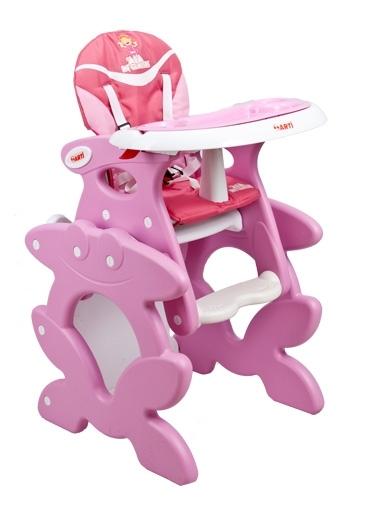 Jídelní židlička ARTI Betty Ala pink Dětská jídelní židlička rozkládací