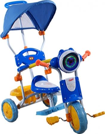 tříkolka ARTI 260C motocykl modrá Dětská tříkolka s vodící tyčí a stříškou