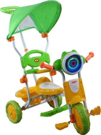 tříkolka ARTI 260C motocykl zelená Dětská tříkolka s vodící tyčí a stříškou