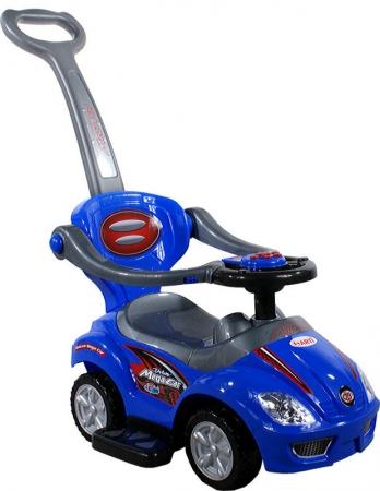 Odrážedlo ARTI 382 Mega Car Deluxe music blue Odrážedlo 3v1 s vodící tyčí