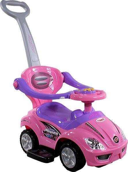 Odrážedlo ARTI 382 Mega Car Deluxe music pink Odrážedlo 3v1 s vodící tyčí