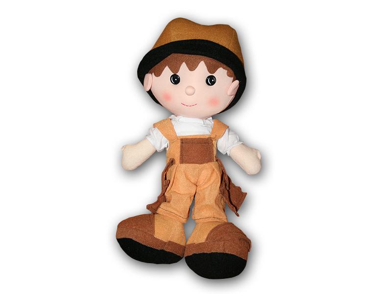 Hadrová panenka chlapeček 41 cm