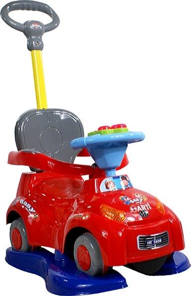 Odrážedlo Music Safety Car red Odrážedlo s vodící tyčí 3v1