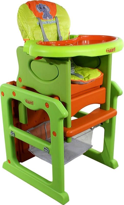 Židlička jídelní PAULI Sloník orange Rozkládací jídelní židlička 2 v 1