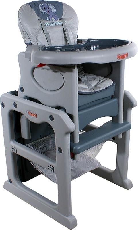 Židlička jídelní PAULI Sloník Grey Rozkládací jídelní židlička 2 v 1