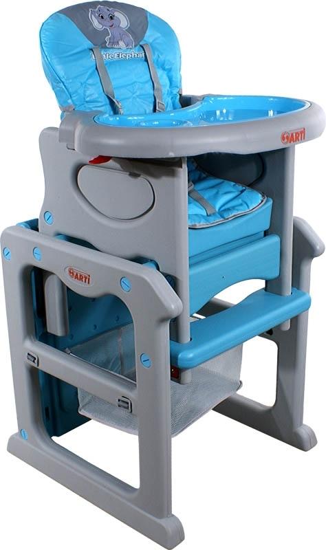 Židlička jídelní PAULI Sloník Blue Rozkládací jídelní židlička 2 v 1