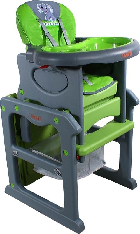 Židlička jídelní PAULI Sloník green Rozkládací jídelní židlička 2 v 1