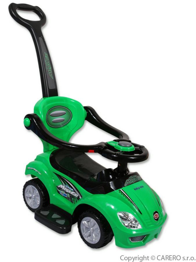 Odrážedlo Baby Mix 3v1 green Odrážedlo s vodící tyčí