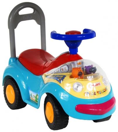 Odrážedlo ARTI GARBUS Musical blue light Odrážecí auto pro děti