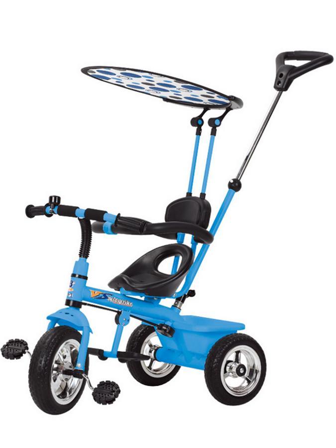 Tříkolka s vodící tyčí Baby Mix modrá Tříkolka s vodící tyčí Baby Mix