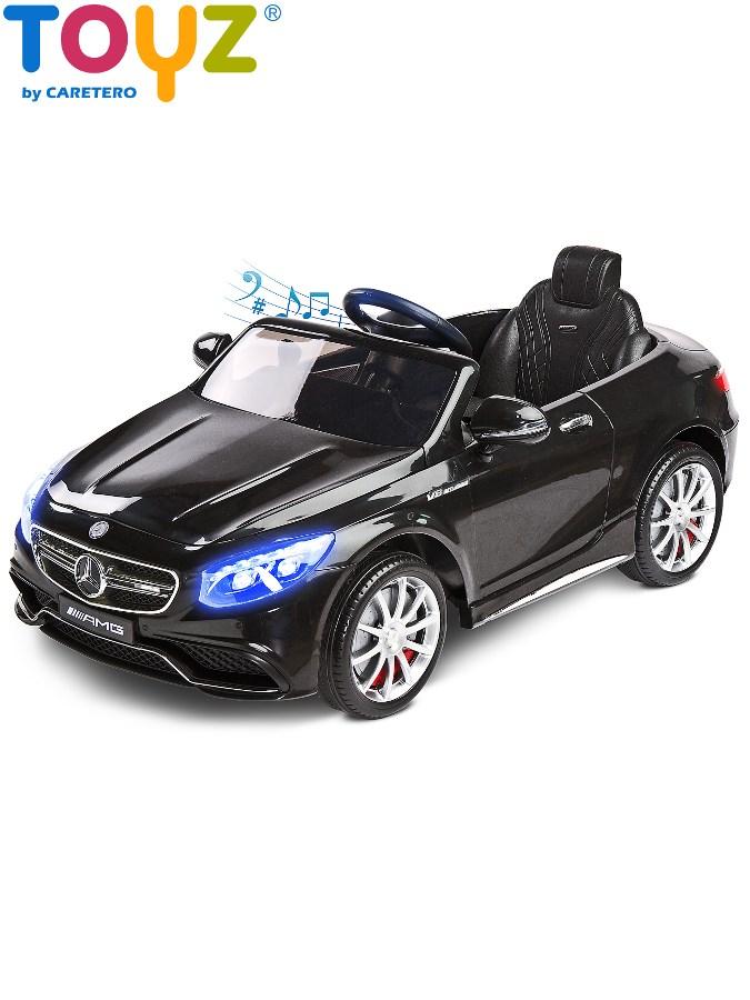 Elektrické auto TOYZ Mercedes-Benz S63 AMG black Elektrické autíčko pro 1 dítě s dálkovým ovládáním
