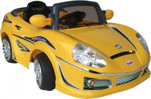 Elektrické auto ARTI ROADSTER Yellow Sportovní elektrické auto pro 1 dítě s možností ovládání vysílačkou