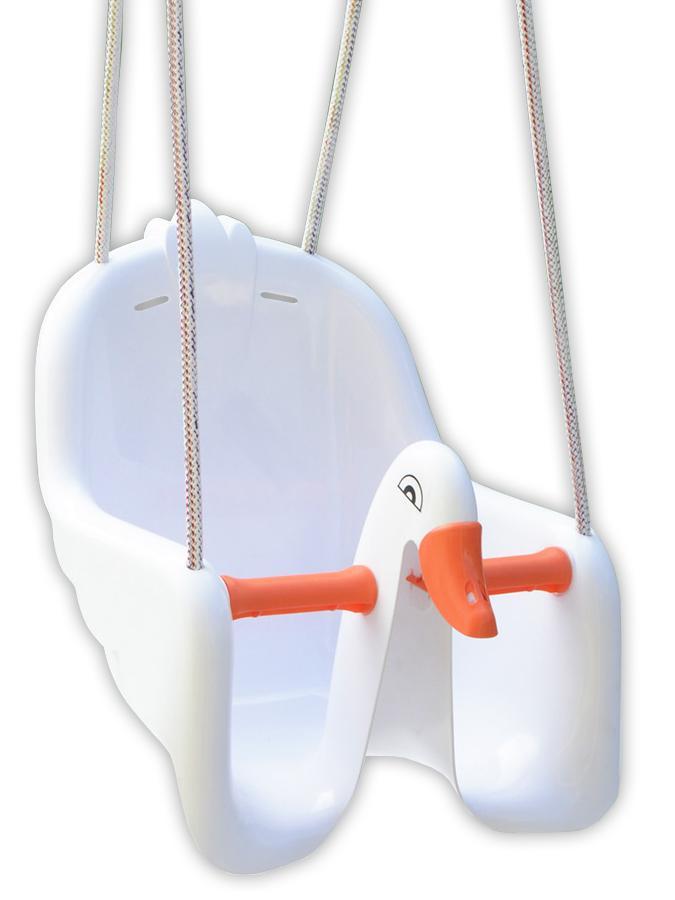 Houpačka dětská Labuť Plastová houpačka pro děti