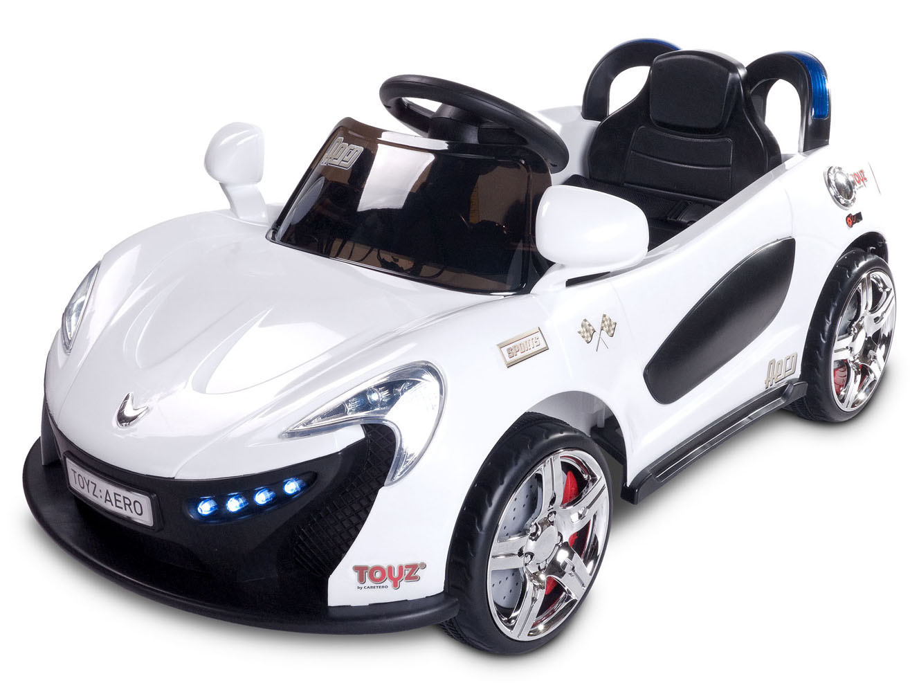 Dětské auto TOYZ Aero white na baterii Elektrické autíčko pro děti Toyz