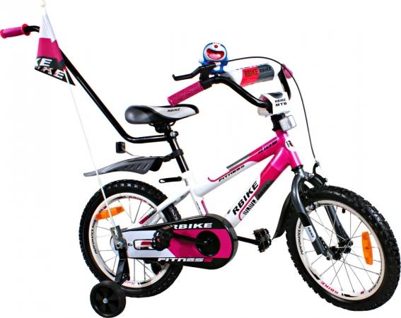 """Dětské kolo 16"""" BMX RBike 3-16 purple Dětské jízdní kolo ARTI s vodící tyčí"""