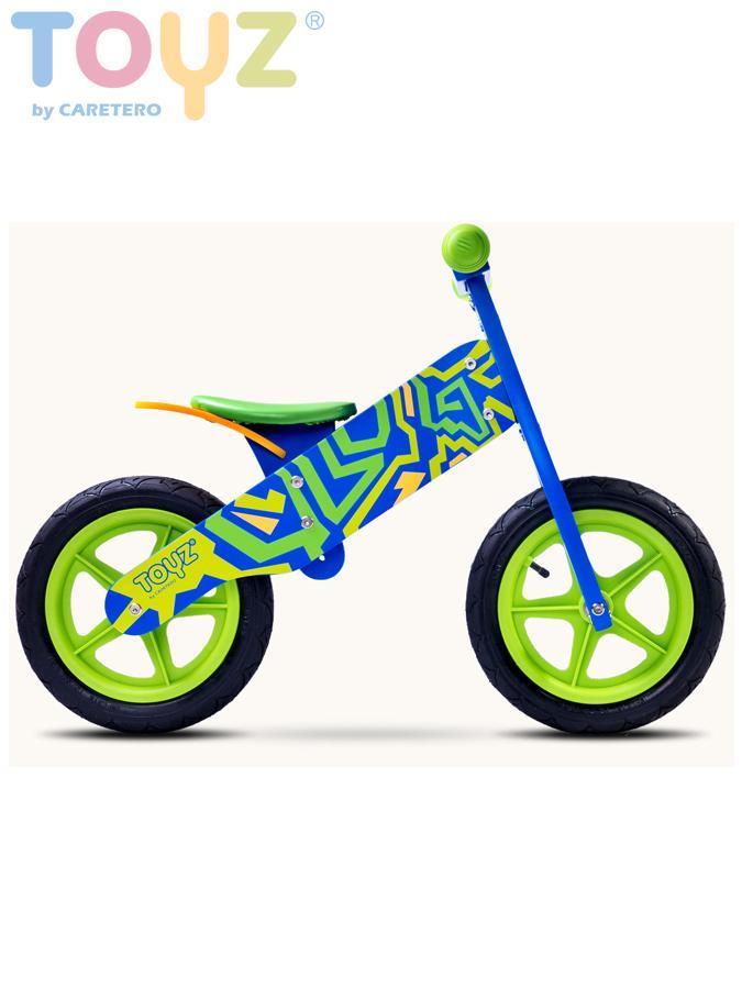 Odrážecí kolo dřevěné Toyz ZAP blue/green Dětské odrážedlo kolo Toyz
