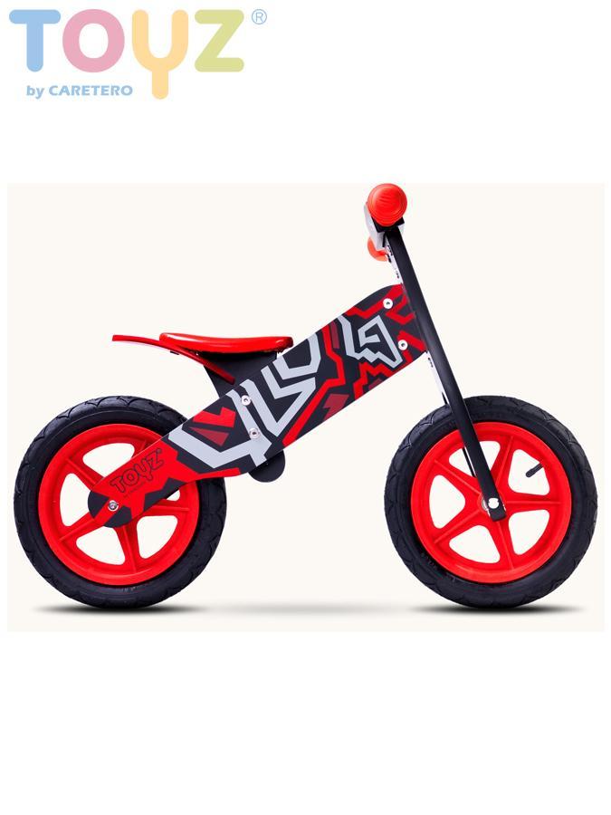 Odrážecí kolo dřevěné Toyz ZAP red Dětské odrážedlo kolo Toyz