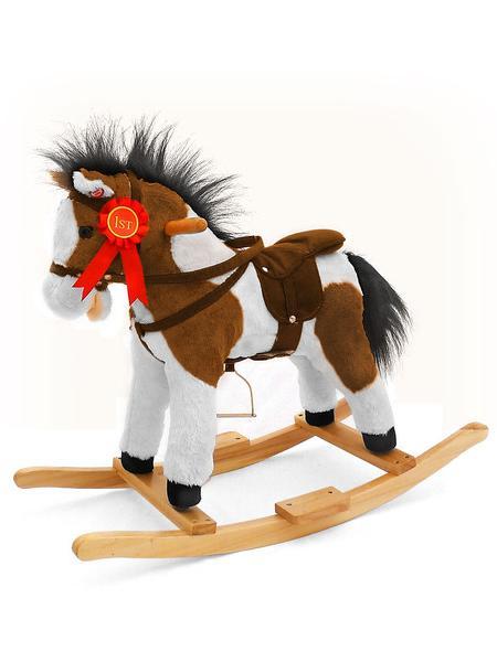 Houpací kůň Milly Mally Jurášek tmavý Plyšový houpací koník se zvuky a pohyby