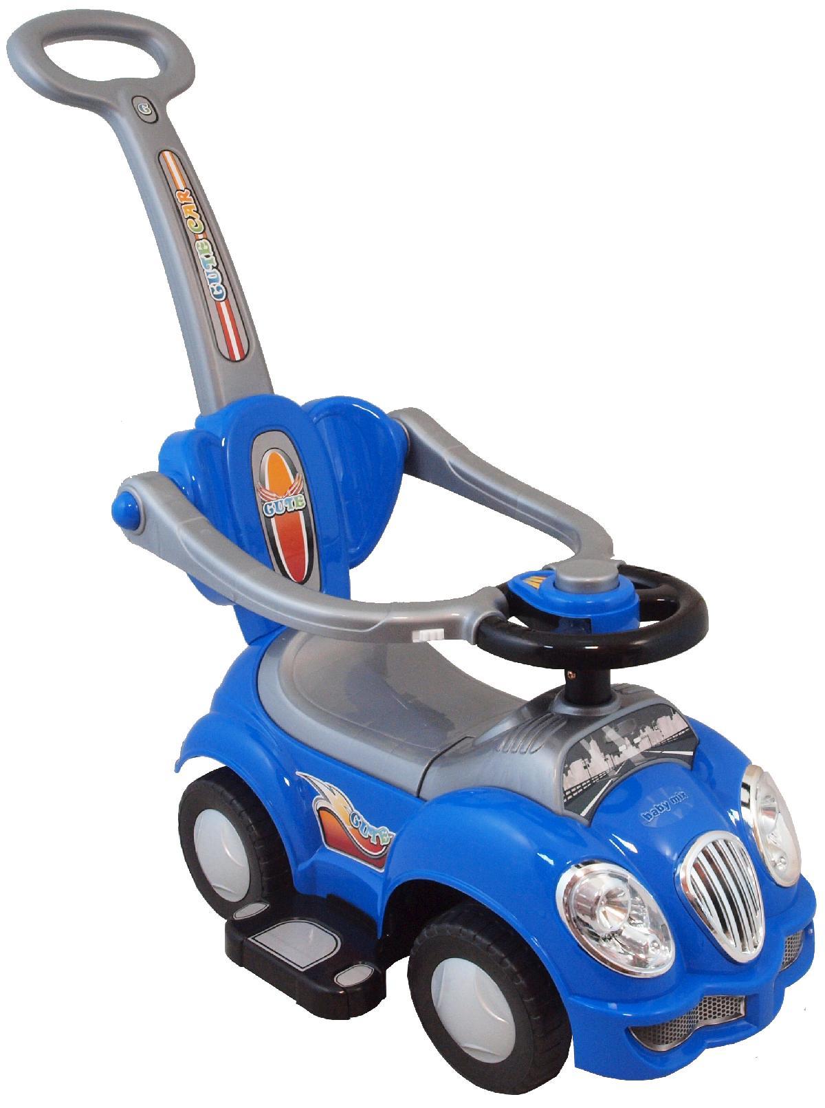 Odrážedlo Baby Mix 2v1 blue Odrážedlo s vodící tyčí