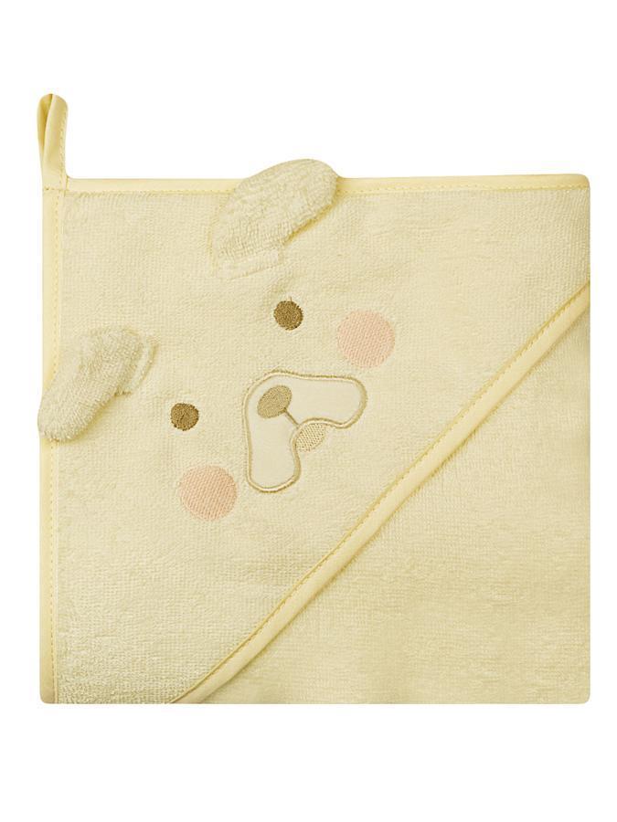 Osuška dětská 100x100 cm beige Dětská bavlněná osuška s kapucí