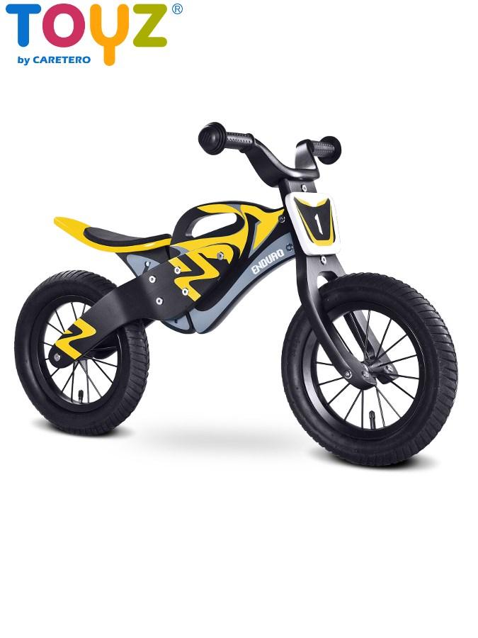 Odrážecí kolo Toyz Enduro yellow Dětské dřevěné odrážedlo kolo Toyz