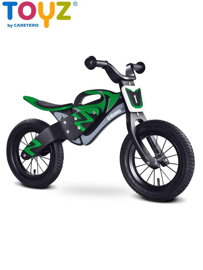 Odrážecí kolo Toyz Enduro green Dětské dřevěné odrážedlo kolo Toyz