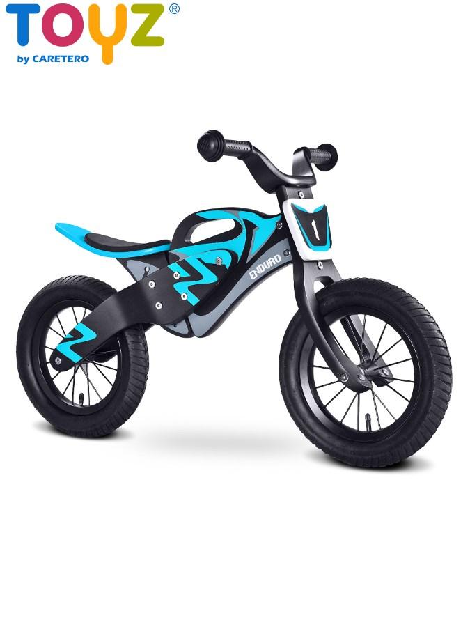 Odrážecí kolo Toyz Enduro blue Dětské dřevěné odrážedlo kolo Toyz