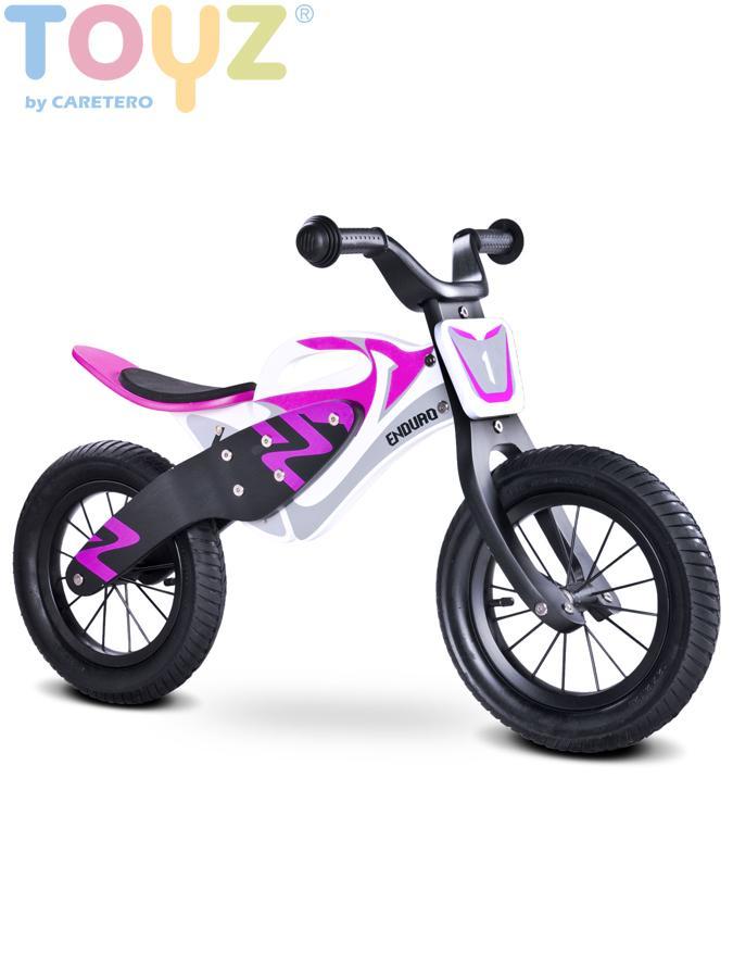 Odrážecí kolo Toyz Enduro purple Dětské dřevěné odrážedlo kolo Toyz