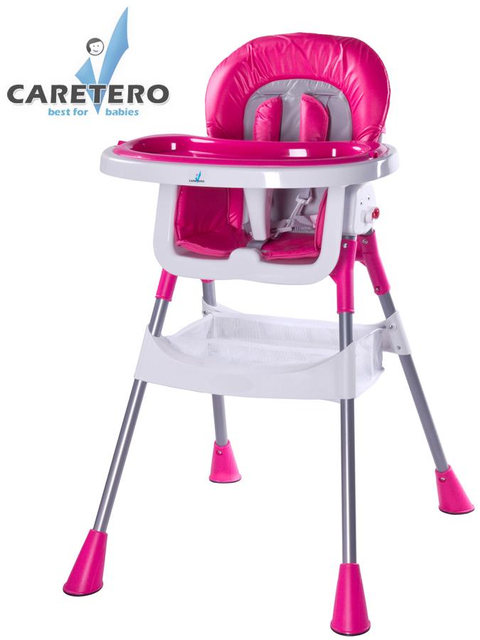 Jídelní židlička POP magenta Skládací jídelní židlička Caretero