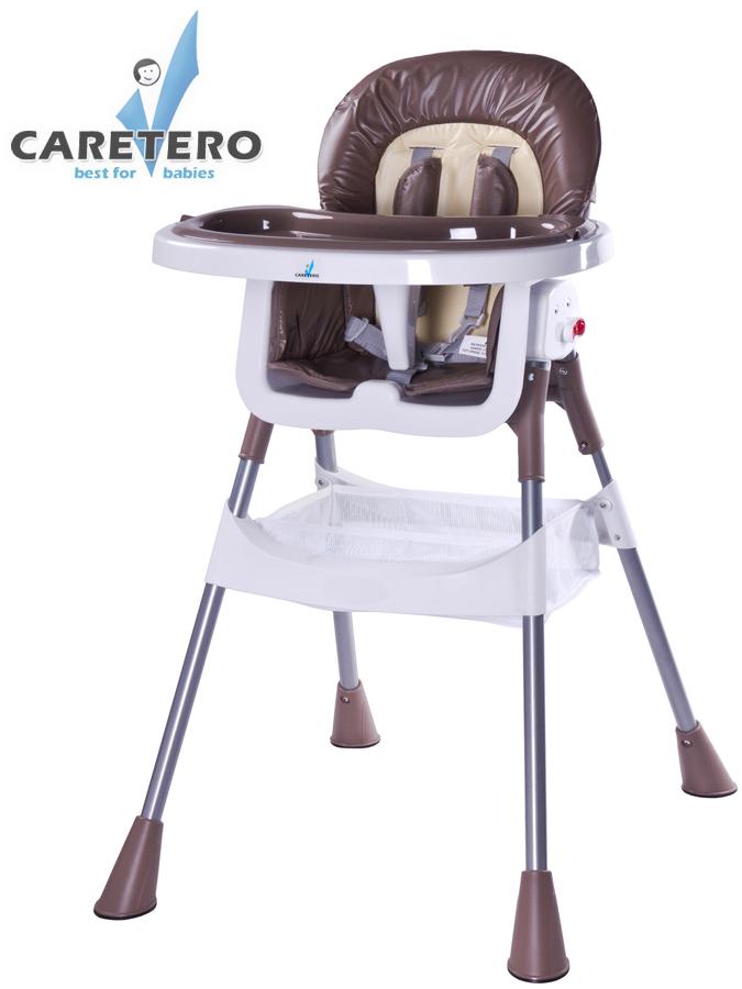 Jídelní židlička POP brown Skládací jídelní židlička Caretero