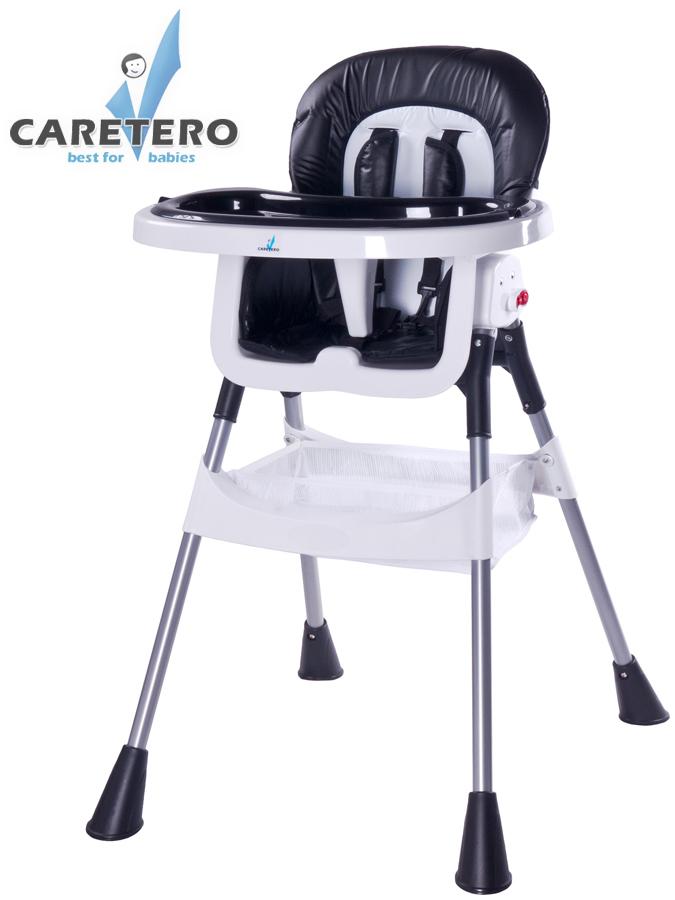 Jídelní židlička POP black Skládací jídelní židlička Caretero
