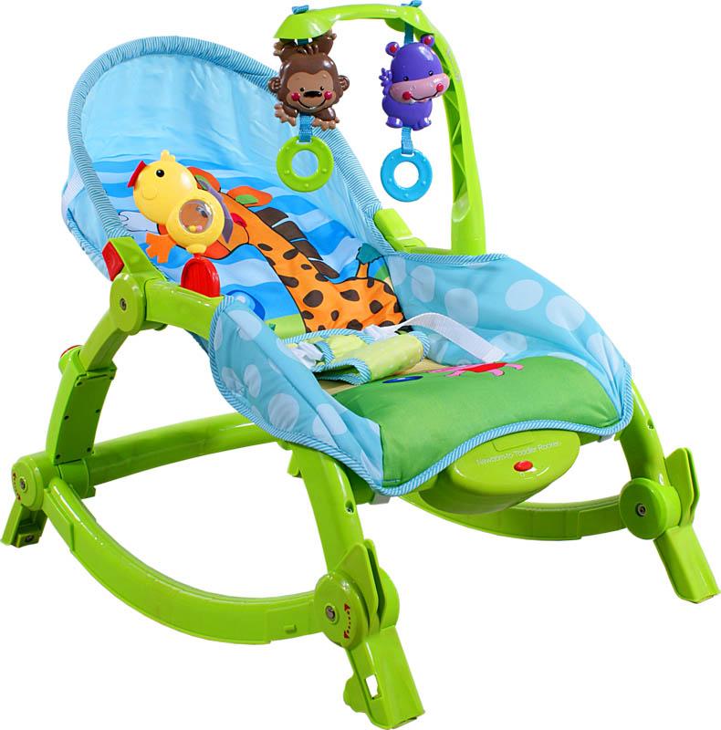 Houpací lehátko Arti Soft-Play Green Giraffe Dětské houpací lehátko s funkcemi