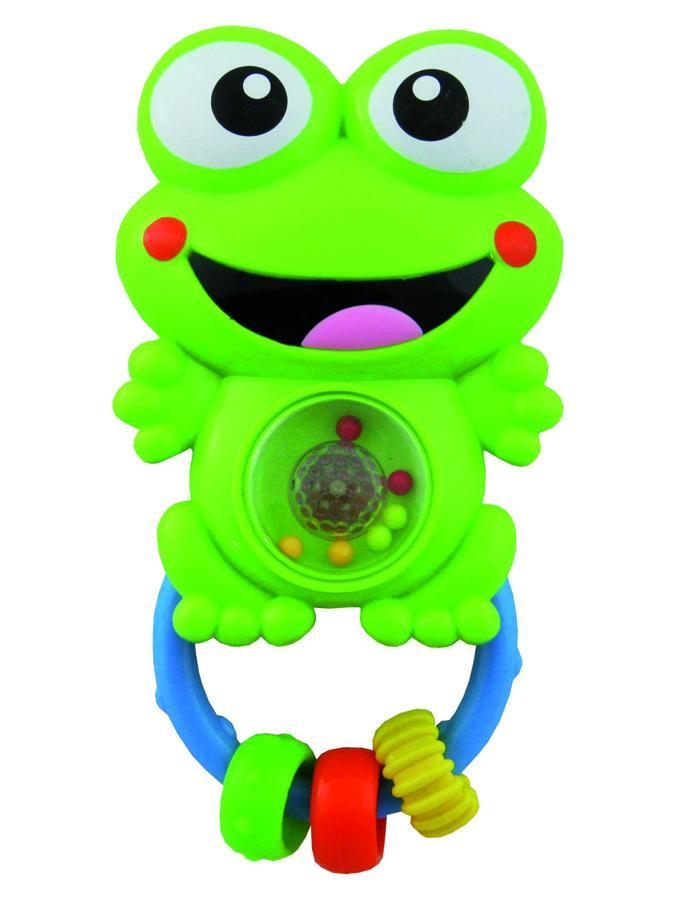 Chrastítko plastové se zvuky žabička Dětské chrastítko Baby Mix