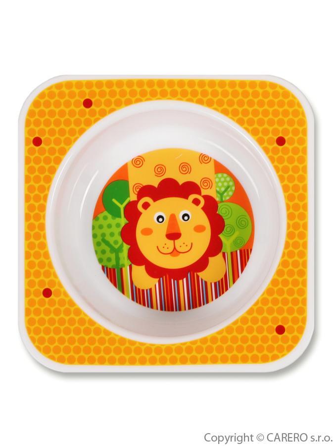 Kojenecká miska plast Lvíček Dětská jídelní miska