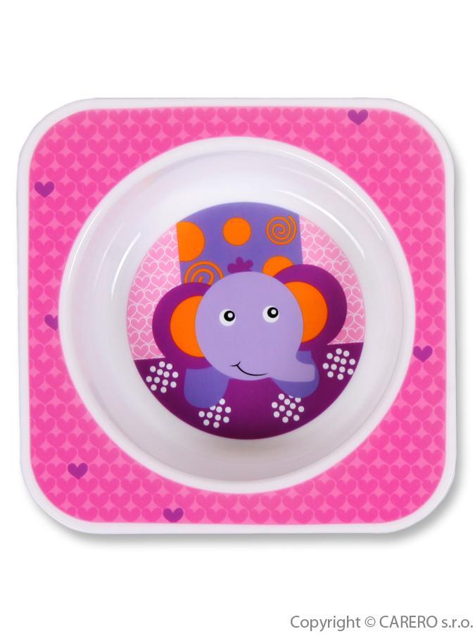 Kojenecká miska plast Sloník Dětská jídelní miska