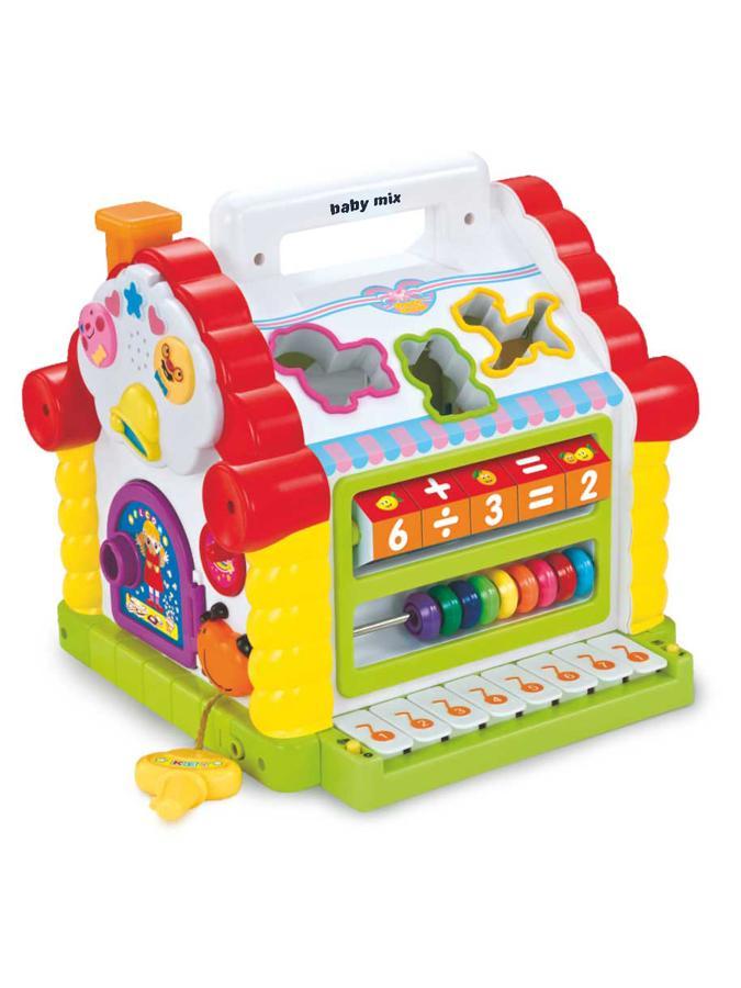 Edukační hračka Baby Mix domeček Plastový domeček vkládačka