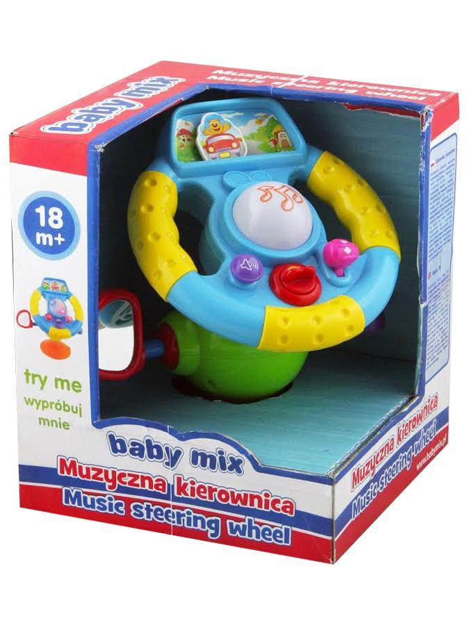 Edukační hračka Baby Mix volant Plastový volant se zvuky a světlem
