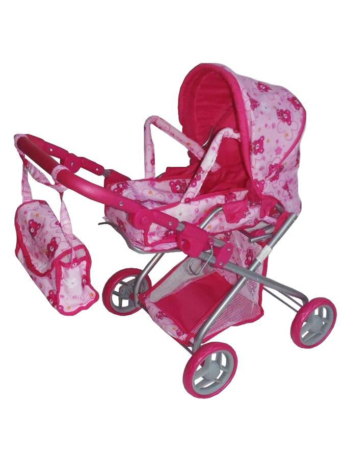 Kočárek hluboký pro panenky Baby Mix flower