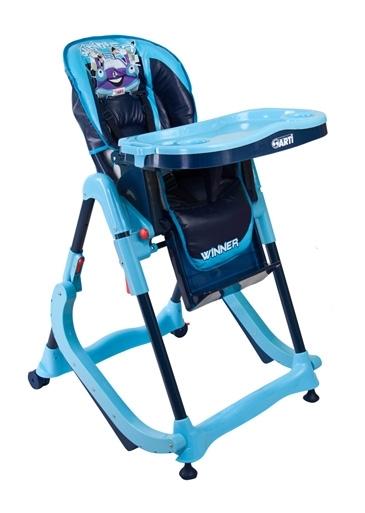 Jídelní židlička Modern Blue Skládací jídelní židlička s funkcí kolébky