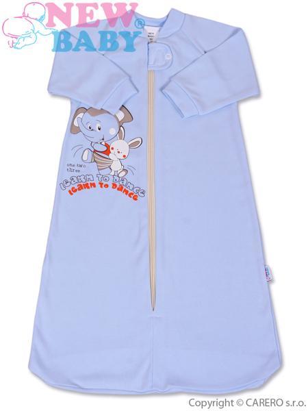 Spací pytel kojenecký Sloník modrý 68 Dětský spací pytel