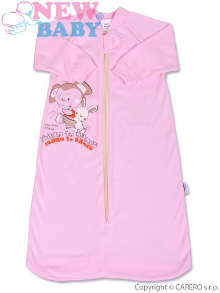 Spací pytel kojenecký Sloník růžový 68 Dětský spací pytel