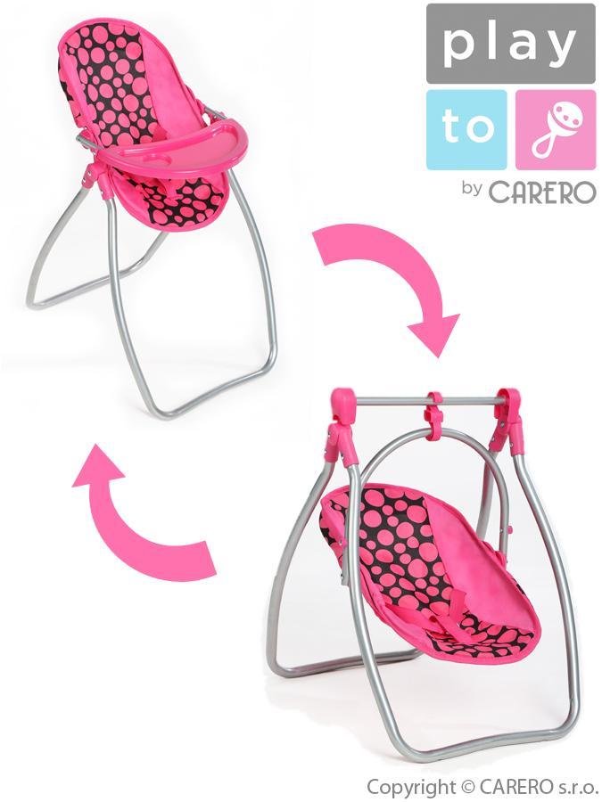 Jídelní židlička a houpačka 2v1 pro panenky Isabella Jídelní židlička a houpačka 2v1 pro panenky PlayTo