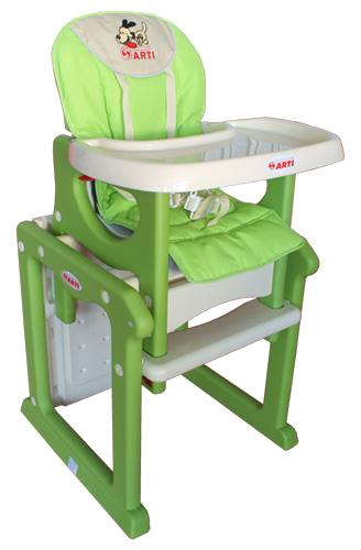 Židlička jídelní PAULI Pejsek green Rozkládací jídelní židlička 2 v 1