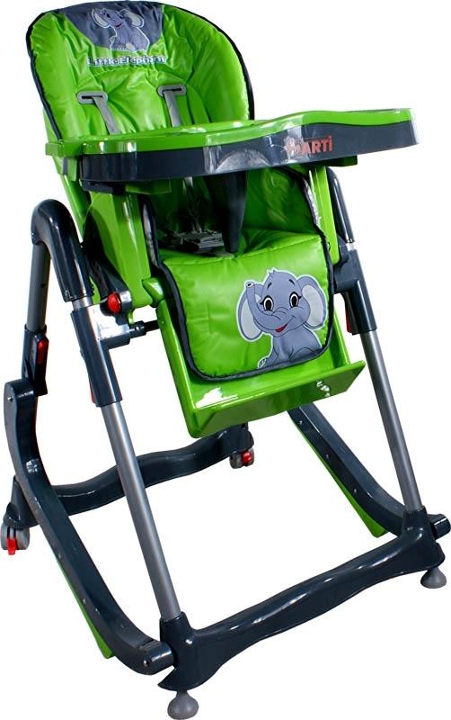 Jídelní židlička Modern Green Skládací jídelní židlička s funkcí kolébky