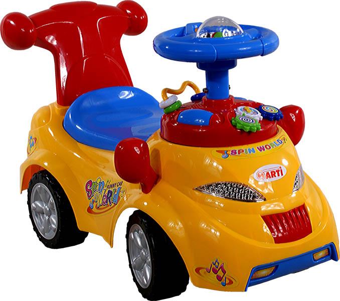 Odrážedlo auto ARTI 378 Spin World yellow Odrážecí auto Arti pro děti